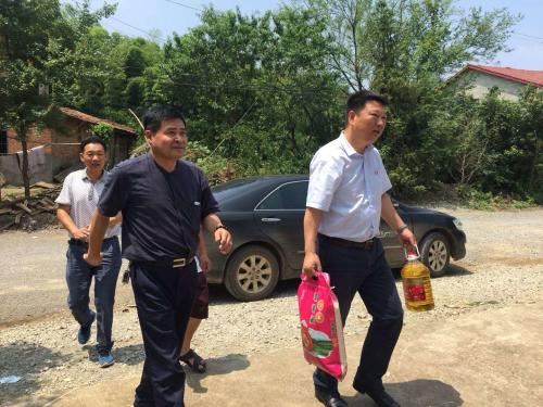 中国银行咸宁分行机关党支部与洞口村党支部开展主题党日活动